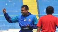 Kapten Arema FC, Hamka Hamzah. (Bola.com/Iwan Setiawan)