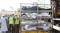 Sejumlah jenazah korban Tragedi Mina (REUTERS / Stringer)