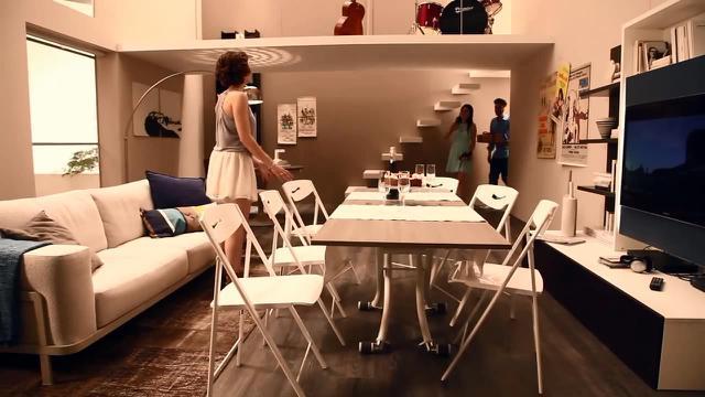 Sebuah perusahaan perabot rumah tangga di Italia menciptakan rancangan cerdas untuk mengatasi penempatan perabot di ruang sempit.