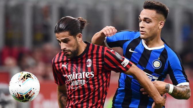 Bek kiri AC Milan, Ricardo Rodriguez (kiri). (AFP/Miguel Medina)