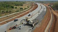 Penampakan proyek akses jalan BIJB Kertajati Majalengka dengan Tol Cipali. Foto (Istimewa)