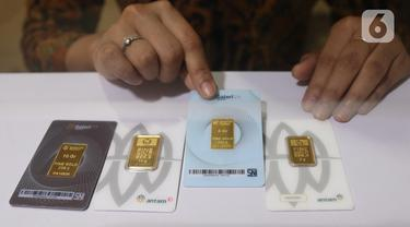FOTO: Harga Emas Antam Alami Penurunan