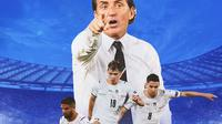 Italia - Roberto Mancini, Lorenzo Insigne, Nicolo Barella, Jorginho (Bola.com/Adreanus Titus)