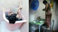 6 Kelakuan Gabut Saat Nunggu Buka Puasa, Bikin Tepuk Jidat (sumber: Instagram.com/kulinerdisolo dan 1cak.com)