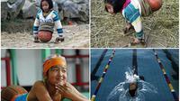 Qian Hongyan membuktikan tekadnya yang kuat mengalahkan keterbatasan fisik (Reuters/People's Daily Online)