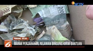 Maraknya penjarahan di lokasi bencana Donggala-Palu membuat relawan bingung mengirim bantuan dan logistik.