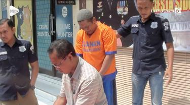 Mengaku sebagai polisi, seorang residivis mencuri mobil seorang taksi online.