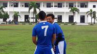 Eka Ramdani saat berlatih bersama Persib Bandung. (Bola.com/Erwin Snaz)
