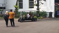 Mensos Idrus Marham menyambangi Istana Kepresidenan (Liputan6.com/ Hanz Jimenez Salim)