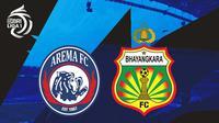 BRI Liga 1 - Arema FC Vs Bhayangkara FC (Bola.com/Adreanus Titus)