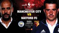 Manchester City vs Watford (Liputan6.com/Abdillah)