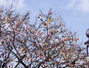 Pohon Telur Paskah di Jerman