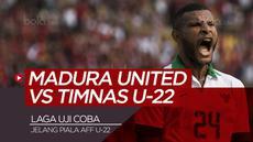 Berita video highlights laga uji coba Madura United vs timnas U-22 yang berakhir dengan skor 1-1, Selasa (12/2/2019).