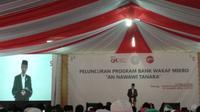 Presiden Joko Widodo (Jokowi) meresmikan Bank Wakaf Mikro pada Rabu ini di Pondok Pesantren An-Nawawi Tanara, Kabupaten Serang, Banten, Rabu (14/3/2018). (Maulandy/Liputan6.com)
