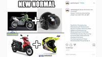 Berbagai hal bisa dijadikan Meme menarik, tidak terkecuali yang berkaitan dengan otomotif. (Instagram @ayotouring.id)