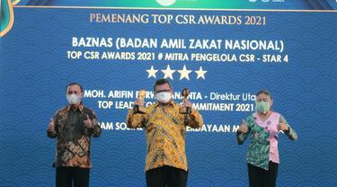 BAZNAS Raih 3 Penghargaan TOP CSR Award 2021