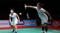 Penampilan ganda putri Indonesia Greysia Polii / Apriyani Rahayu pada ajang Malaysia Masters yang berlangsung di Axiata Arena, Kuala Lumpur, Malaysia, Kamis (9/1/2020). (foto: PBSI)