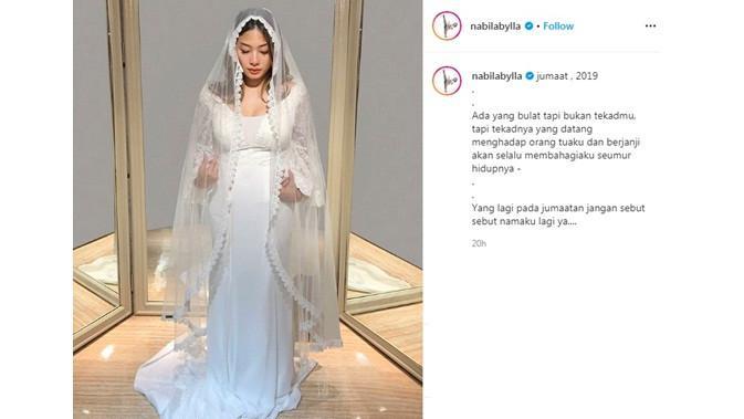 Unggah Foto Pernikahan, Ini 8 Pesona Nabila Putri Saat Pakai Gaun