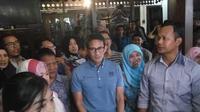 Bakal cawapres 2019 Sandiaga Uno berdialog dengan pengusaha milenial di Yogyakarta (Liputan6.com/ Switzy Sabandar)