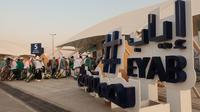 Jalur khusus kepulangan bernama Eyab bagi Jemaah Haji Indonesai di Bandara Prince Mohammed bin Abdulaziz, Madinah. Darmawan/MCH