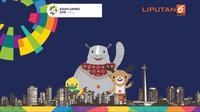 banner heboh persiapan Asian Games (Liputan6.com/Triyasni)