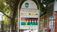 Kualitas udara di Pekanbaru tidak sehat karena kabut asap dan membuat sekolah diliburkan. (Liputan6.com/M Syukur)