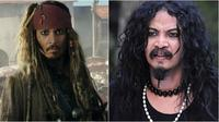 Cocoklogi artis mirip pemain Pirates of the Caribbean (Sumber: Twitter/fajar17)