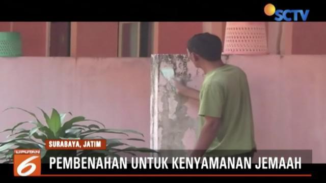 Panitia Penyelenggara Ibadah Haji Surabaya lakukan perbaikan Asrama Haji Sukolilo untuk menyambut kedatangan jemaah haji kloter pertama.