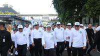 Menteri Ketenagakerjaan Ida Fauziyah saat kegiatan Pencanangan Bulan K3 Nasional Tahun 2020.