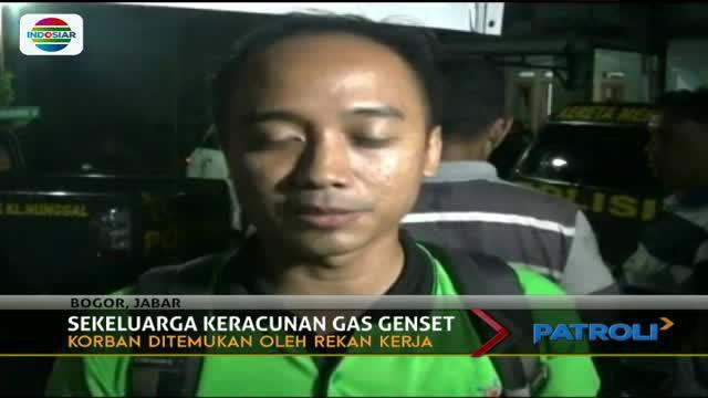 Diduga karena keracunan gas genset, satu keluarga yang terdiri dari pasangan suami istri dan anak, tewas.