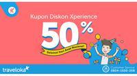 Kupon Diskon Xperience 50 %.