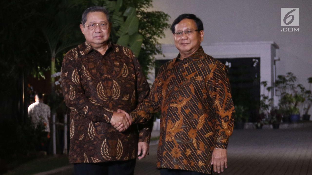 SBY dan Prabowo Gelar Pertemuan Empat Mata