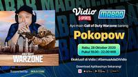 Program Main Bareng Pokopow, Rabu (28/10/2020) pukul 19.00 WIB dapat disaksikan melalui paltform Vidio dan laman Bola.com. (Sumber: Vidio)
