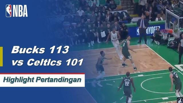 Giannis Antetokounmpo mencetak 39 poin dan 16 rebound untuk membawa kemenangan bagi Milwaukee Bucks atas Boston Celtics di Game 4.
