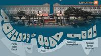 Banner Infografis Habis Segel Terbitlah IMB Pulau Reklamasi Teluk Jakarta. (Liputan6.com/Triyasni)