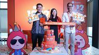 Media Gathering Shopee 12.12 Birthday Sale di kawasan Thamrin, Jakarta Pusat, 28 November 2018. (dok. Shopee Indonesia/Asnida Riani)
