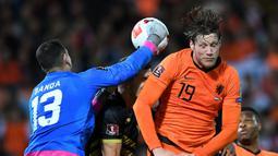 De Oranje tanpa ampun menghajar Gibraltar dengan enam gol tanpa balas. (AFP/John Thys)