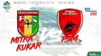 Jadwal Liga 1 2018 pekan ke-24, Mitra Kukar vs PSM Makassar. (Bola.com/Dody Iryawan)