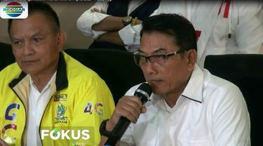 Wakil Ketua TKN Jenderal purnawirawan Moeldoko menyatakan kemenangan paslon nol satu Jokowi-Ma'ruf Amin berdasarkan hitung cepat.
