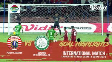 Berita video gol-gol yang tercipta saat Persija Jakarta mengalahkan Geylang International FC 3-1 pada laga persahabatan di SUGBK (Stadion Utama Gelora Bung Karno), Senayan, Minggu (23/2/2020).