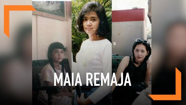 Melihat foto ini, warganet berkomentar kalau saat remaja, Maia Estianty sangat mirip dengan Al, putra pertamanya.