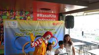 Anthony Sutanto dan Aretha Maheswari yang terpilih menjadi Duta Cilik Olimpiade Rio de Janeiro 2016 lewat program yang digagas McDonald's. (Liputan6.com/Ahmad Fawwaz Usman)