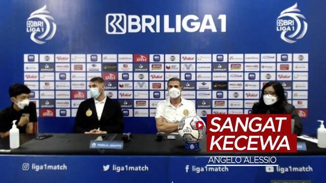 Berita video Pelatih Persija Jakarta, Angelo Alessio, mengungkapkan bahwa dirinya sangat kecewa dengan hasil imbang melawan PSIS Semarang pada pekan kedua BRI Liga 1 2021/2022, Minggu (12/9/2021) malam hari WIB.