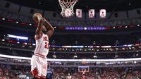 Jimmy Butler, membawa Chicago Bulls memuncaki klasemen sementara Divisi Central NBA 2016-2017. (Charles Rex/AP)