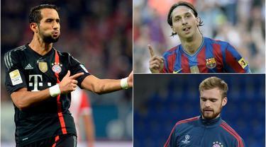 Berikut foto 10 bintang dunia yang justru meredup dibawah kepemimpinan Pep Guardiola. (Kolase foto-foto AFP)