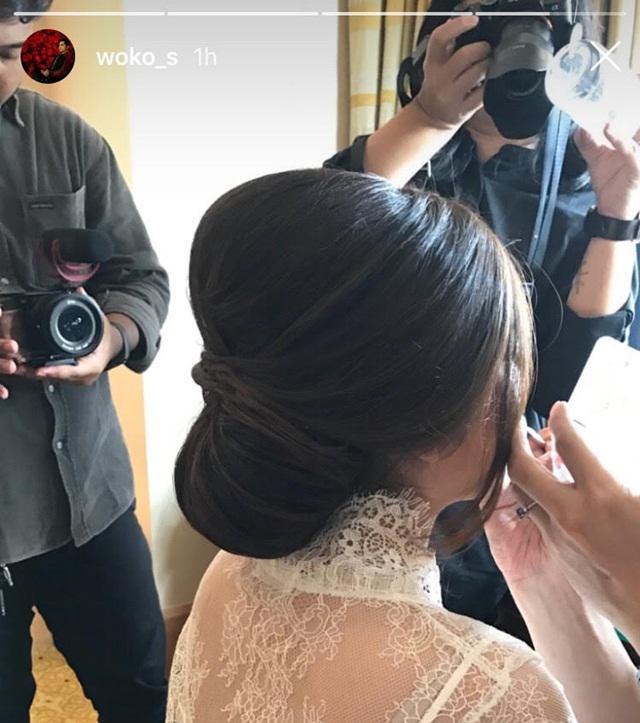 Tatanan rambut Tasya Kamila di hari pernikahannya/copyright instagram.com/Woko_s