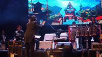 Konser Musik Batak bertajuk Emas Sangge Sangge digelar di ruang teater tertutup Dago Tea House, Kota Bandung, Jumat (4/10/2019). (Liputan6.com/Huyogo Simbolon)