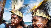 Gadis Papua dalam sebuah kesempatan di pesta budaya. (Liputan6.com / Katharina Janur)