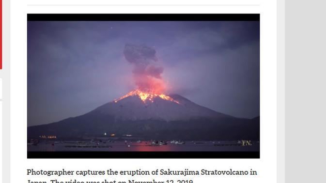 Cek Fakta Liputan6.com menelusuri klaim foto Gunung Semeru erupsi