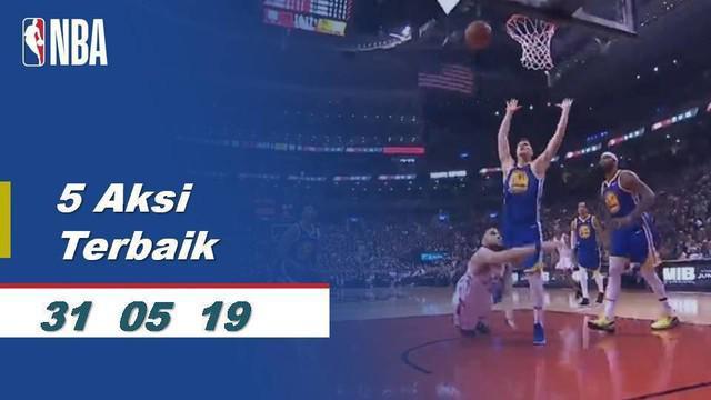 Berita Video 5 Aksi Terbaik Gim Pertama Final NBA 2019, Toronto Raptors Vs Golden State Warriors